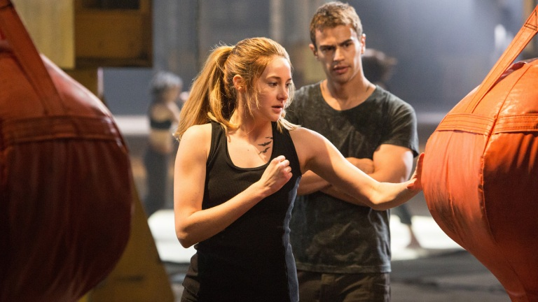 Shailene Woodley and Theo James in the Divergent Movie