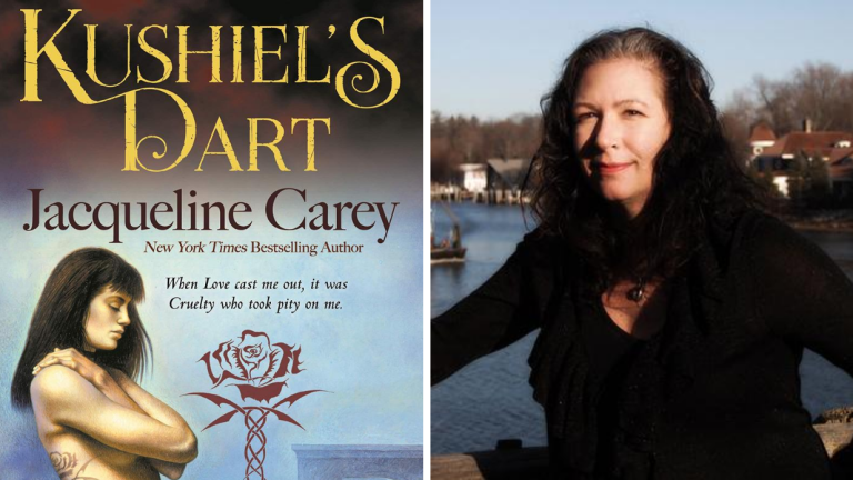 Kushiel's Legacy Book Cover & Author Jacqueline Carey