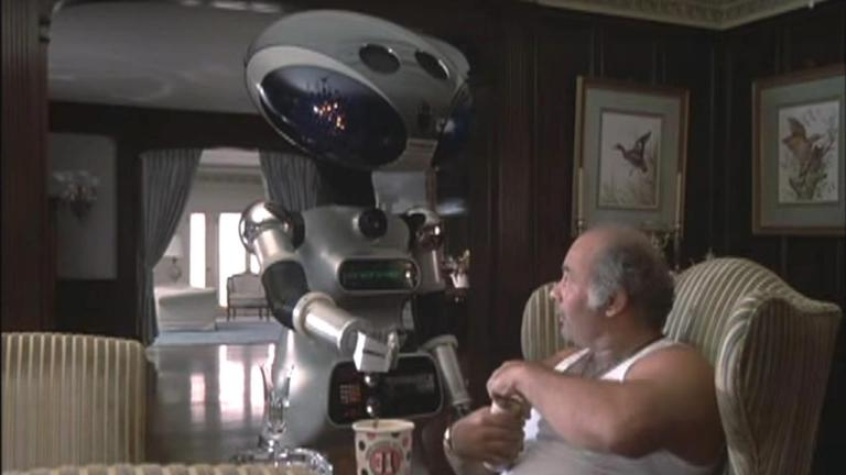 Rocky IV robot and Paulie