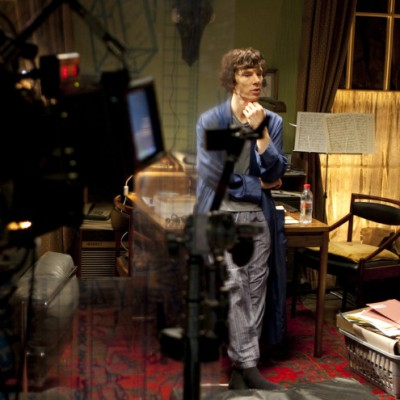 Benedict Cumberbatch & Paul McGuigan on the Set of Sherlock