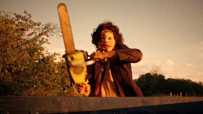 Gunnar Hansen as Leatherface in The Texas Chainsaw Massacre