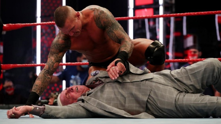 Randy Orton and Ric Flair on WWE Monday Night Raw