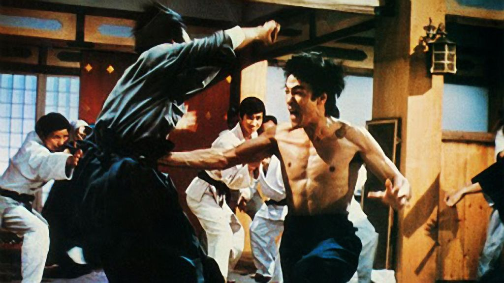 Bruce Lee shows his Fist of Fury.