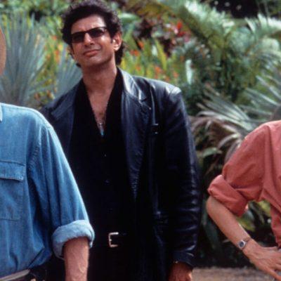 Sam Neil Laura Dern and Jeff Goldblum in Jurassic Park