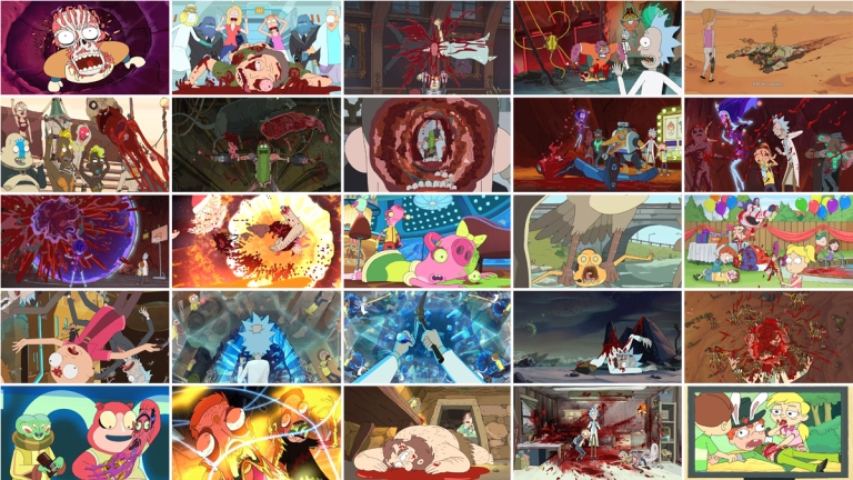 Rick and Morty Gruesome Deaths header image