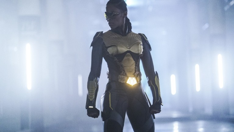 Nafessa Williams as Thunder in Black Lightning on The CW