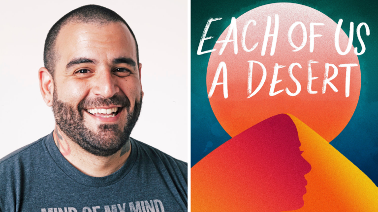 Author Mark Oshiro and Book Cover Each of Us a Desert