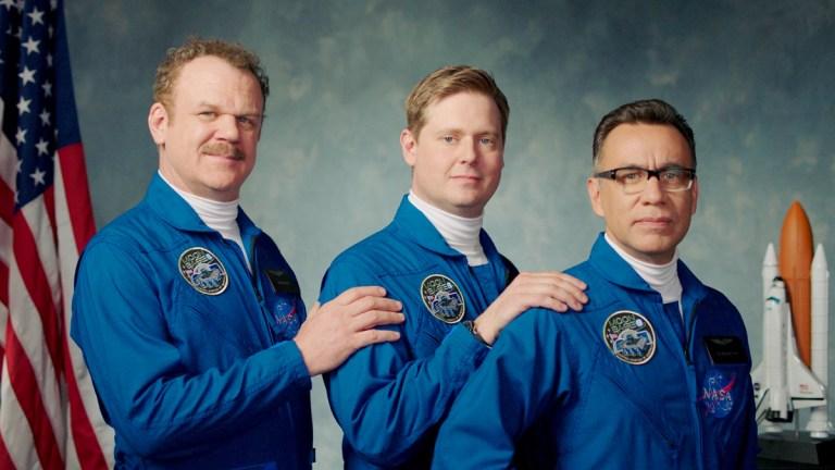 John C. Reilly, Tim Heidecker and Fred Armisen on Moonbase 8