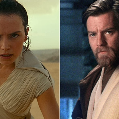 Daisy Ridley in Star Wars: The Rise of Skywalker; Ewan McGregor in Star Wars: Revenge of the Sith