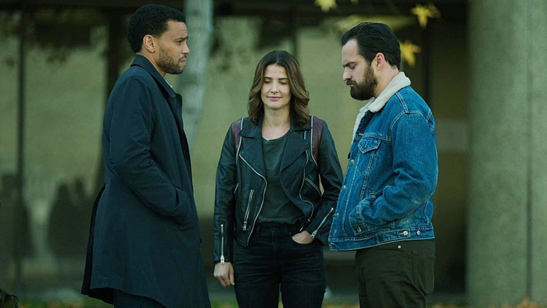 Michael Ealy, Cobie Smulders and Jake Johnson on Stumptown