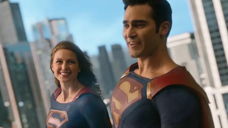 Melissa Benoist as Supergirl, Tyler Hoechlin as Superman; Superman & Lois