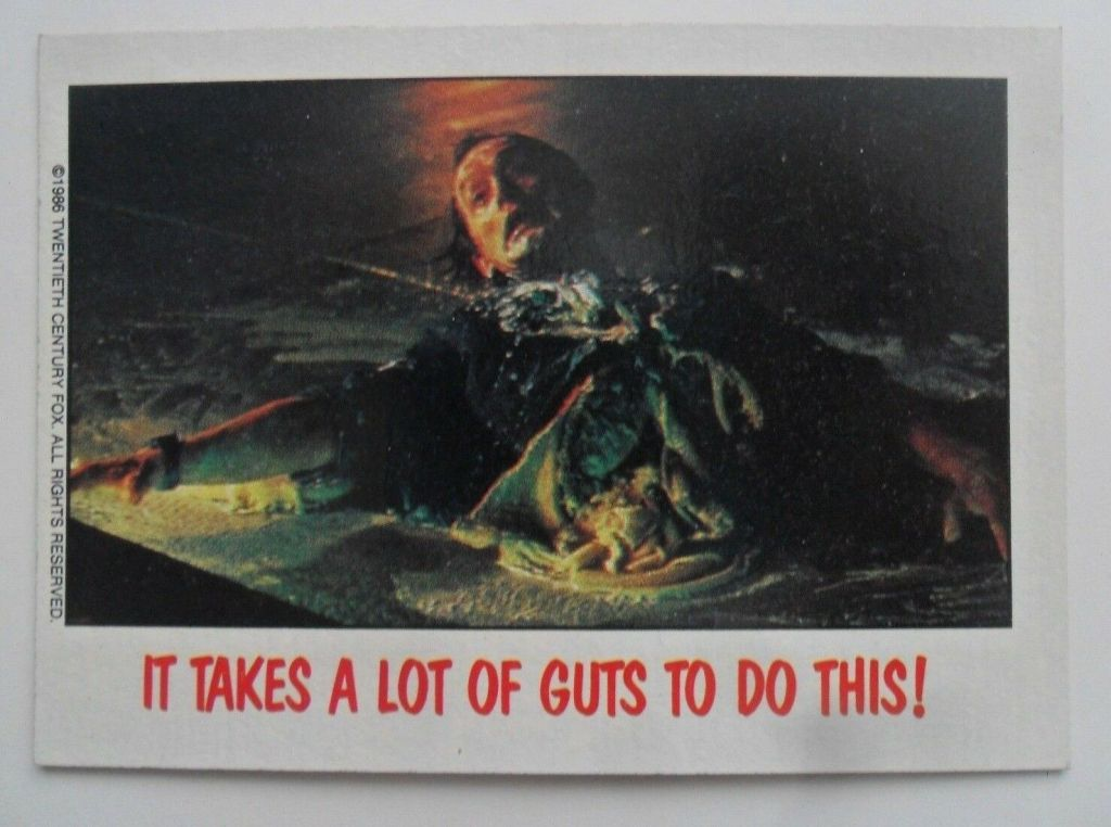 Topps Fright Flicks Card: Bishop from Aliens
