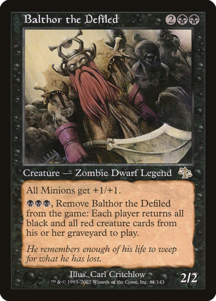 Magic: the Gathering Scariest Cards - Balthor the Defiled