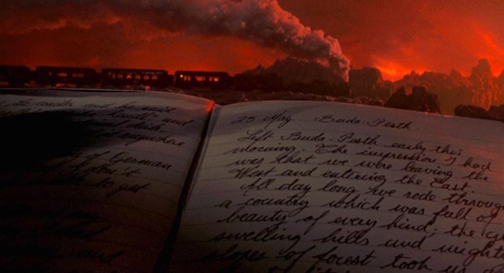 Jonathan Harker's Journal with train in Bram Stoker's Dracula