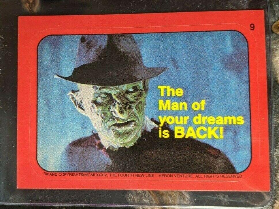 Topps Fright Flicks Freddy Krueger sticker