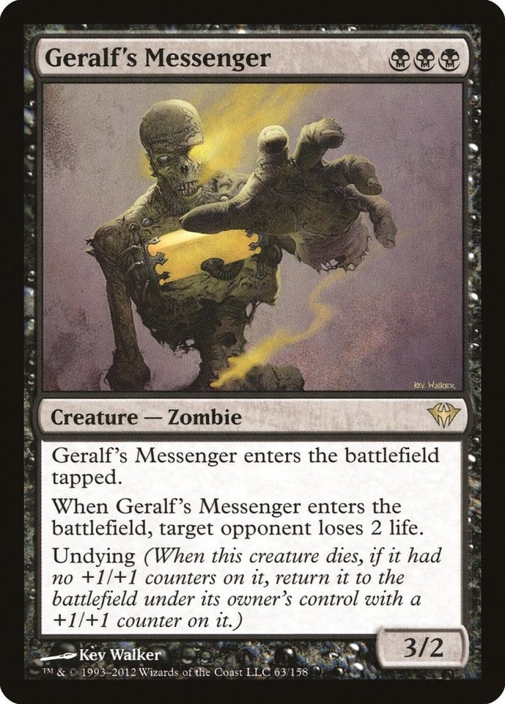 Magic: the Gathering Scariest Cards - Geralf's Messenger