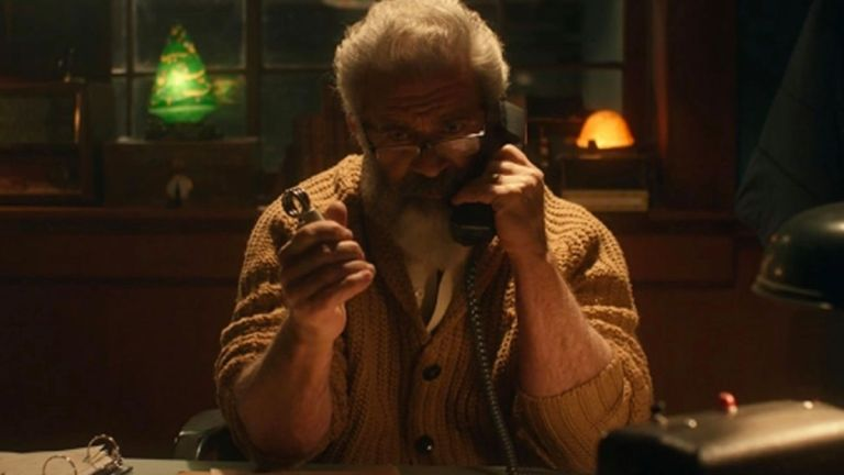 Mel Gibson as Santa Claus in Fatman