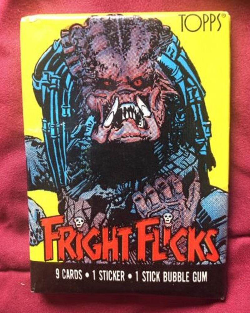 Topps Fright Flicks Unopened Wax Pack (Predator Art)
