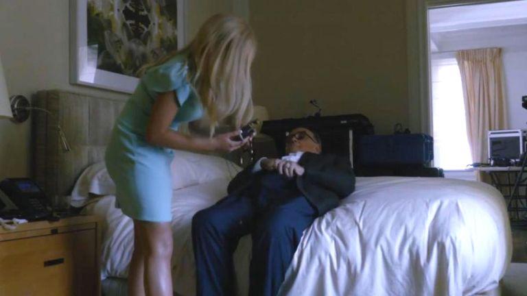 Rudy Giuliani and Maria Bakalova in Borat 2