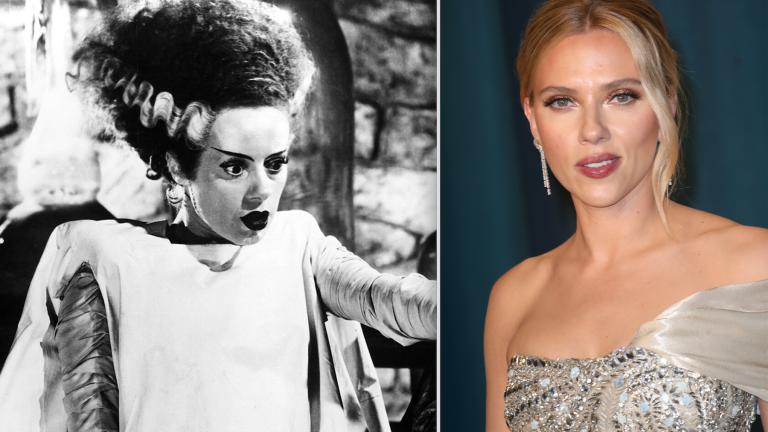 Scarlett Johansson and the Bride of Frankenstein