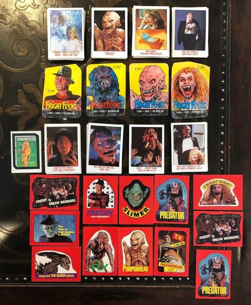 Topps Fright Flicks Sticker Set
