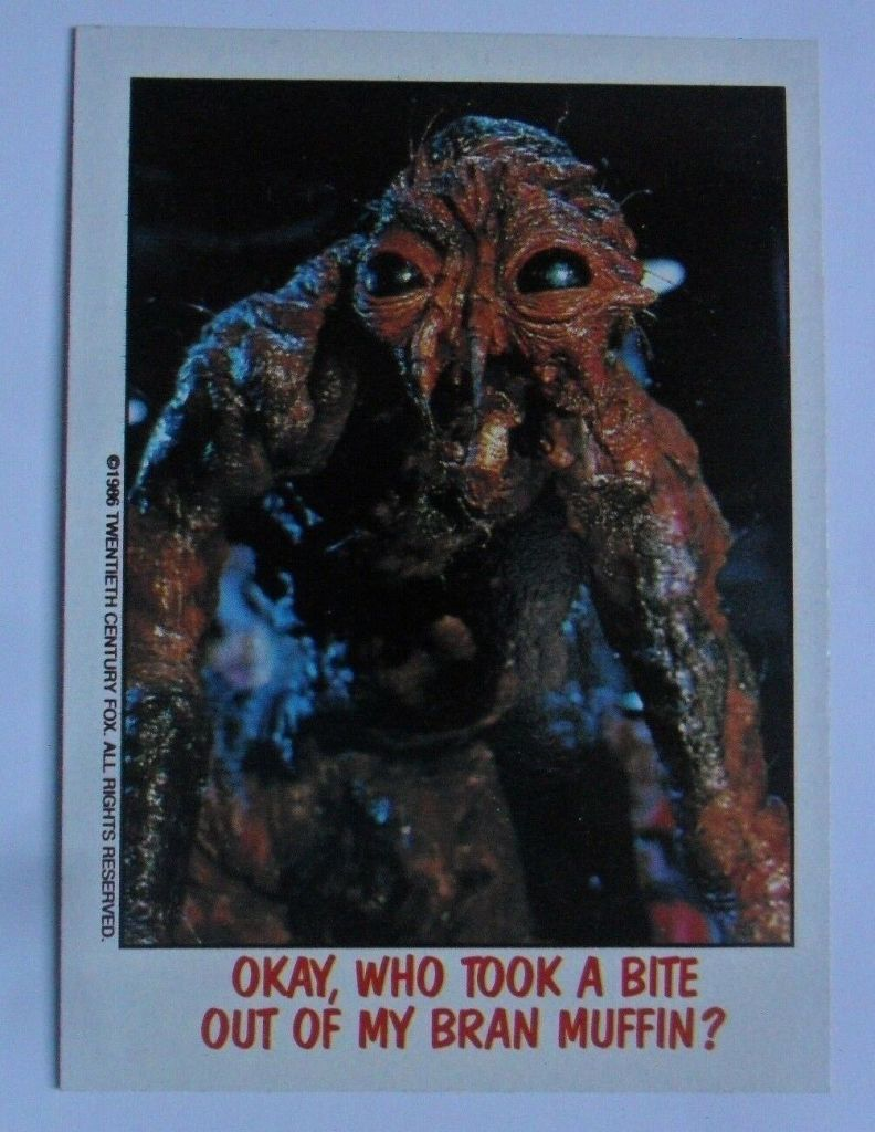 Topps Fright Flicks: The Fly card