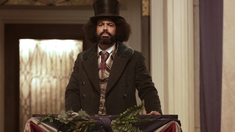 Daveed Diggs as Frederick Douglass in The Good Lord Bird