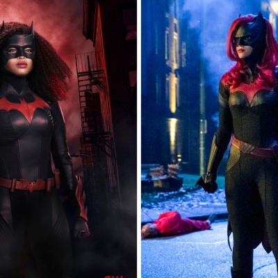 Javicia Leslie in Her New Batwoman Costume & Ruby Rose in the Old Batwoman Costume
