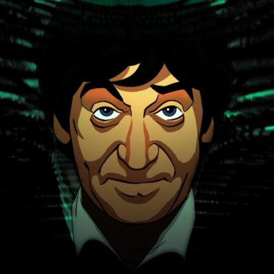 Patrick Troughton in the Animated Doctor Who The Faceless Ones