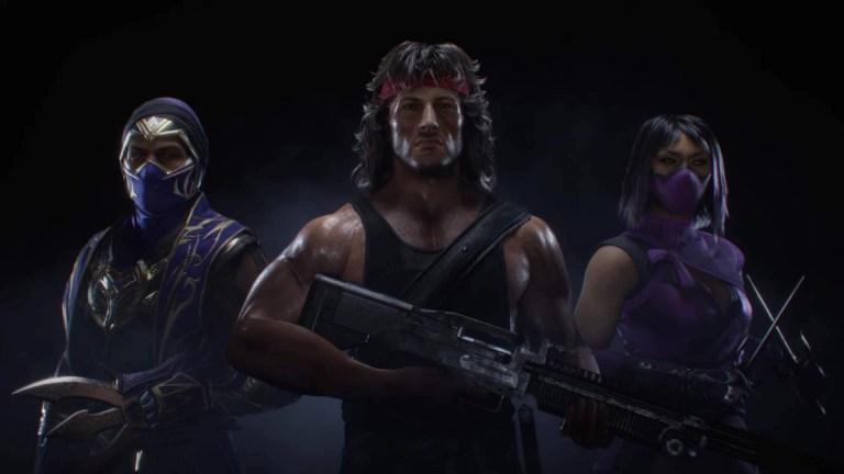 Rain, Rambo, and Mileena in Mortal Kombat 11: Ultimate