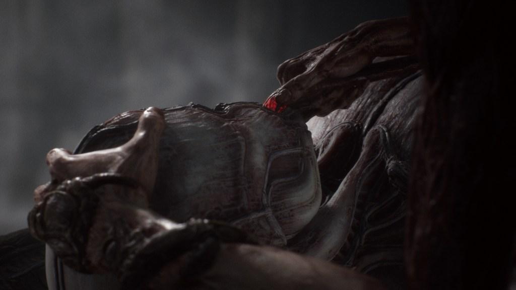 Scorn Protagonist Plugs into Exoskeleton