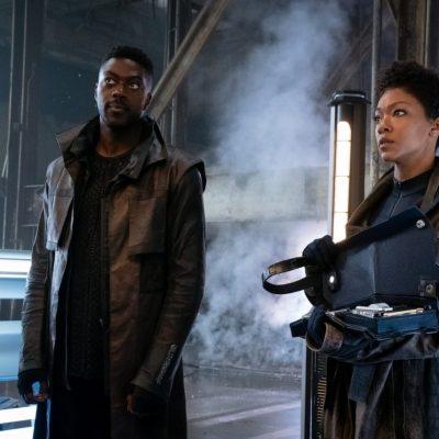 Book and Burnham in Star Trek: Discovery Season 3 Episode 1