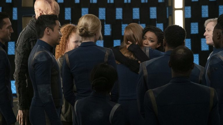Michael Hugs Her Crewmates in Star Trek: Discovery Season 3 Episode 3