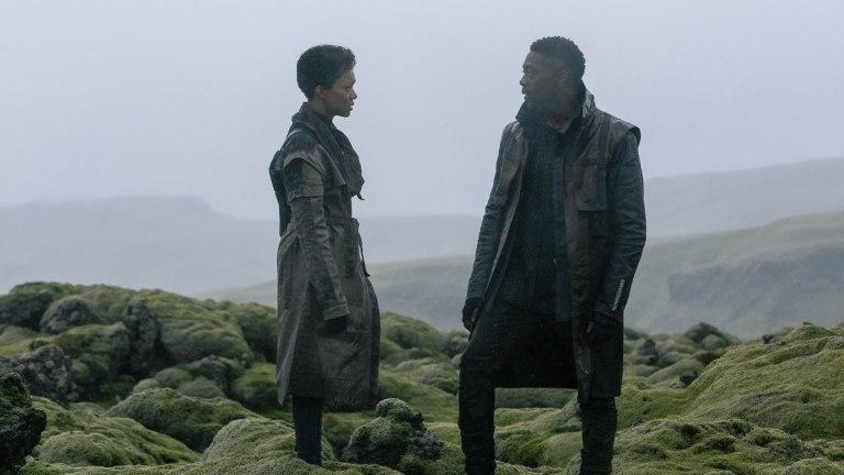 Sonequa Martin-Green and David Ajala in Iceland for Star Trek: Discovery Season 3