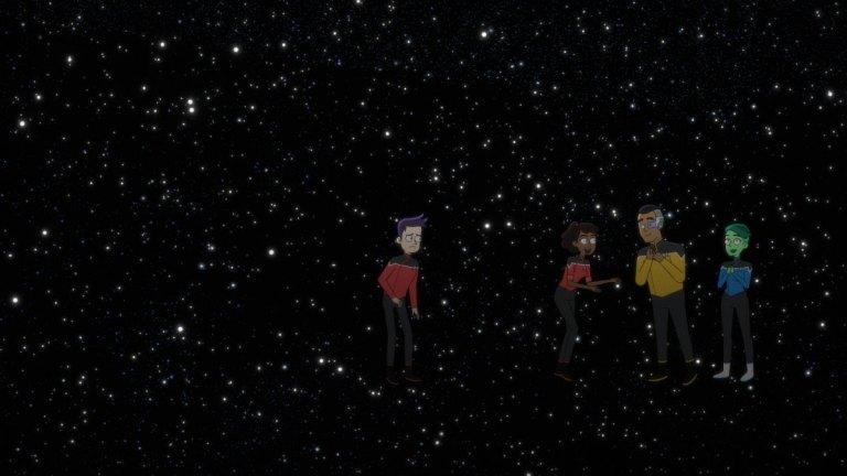 The Cast of Star Trek: Lower Decks Episode 9 in Space