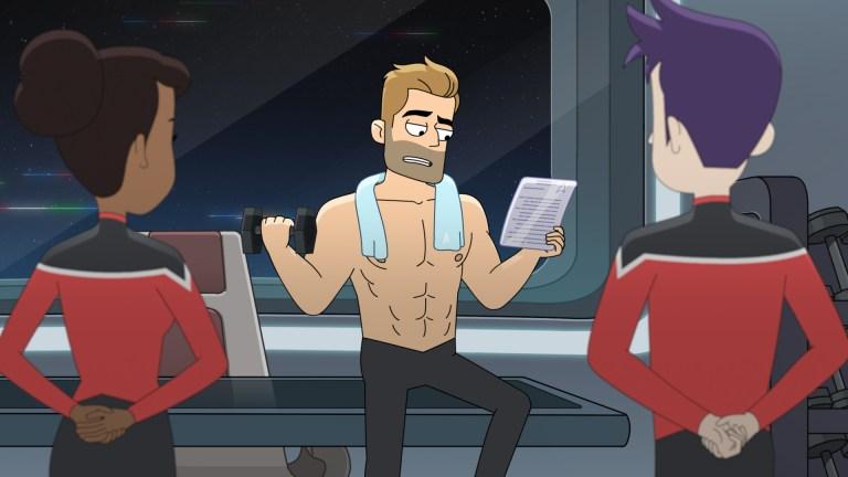 Ransom Working Out in the Star Trek: Lower Decks Season 1 Finale