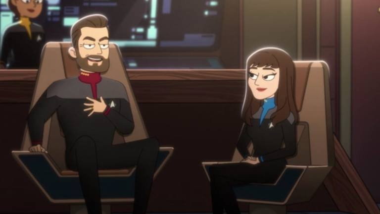Riker and Troi on Star Trek: Lower Decks