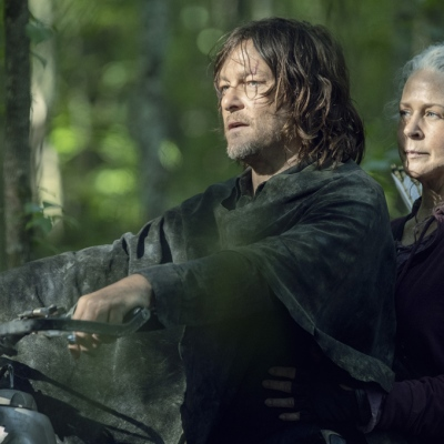 Norman Reedus and Melissa McBride on The Walking Dead