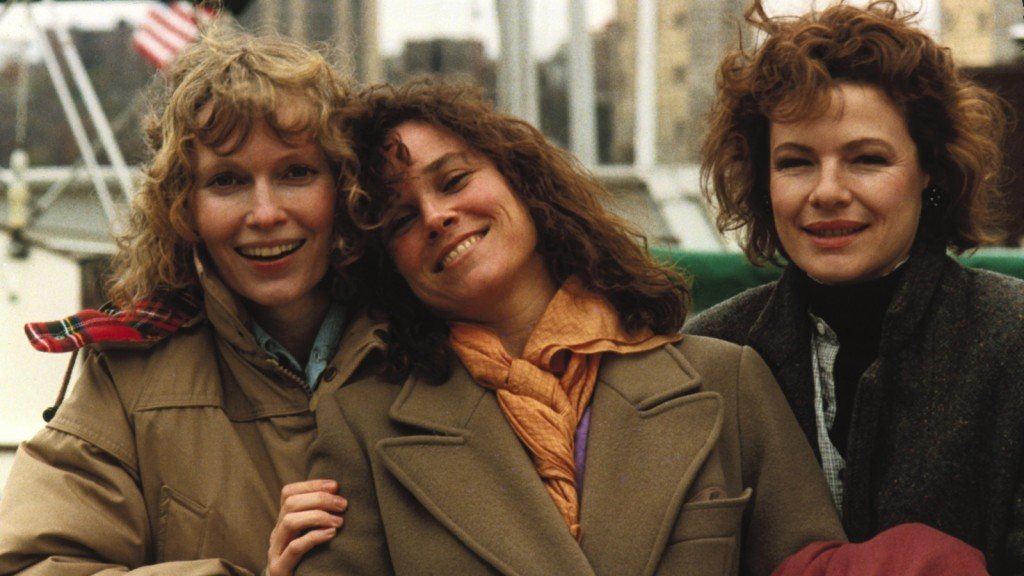 Mia Farrow, Dianne Wiest, and Barbara Hershey in Hannah and Her Sisters