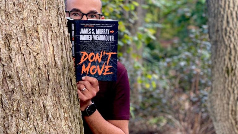James Murray with book Don't Move