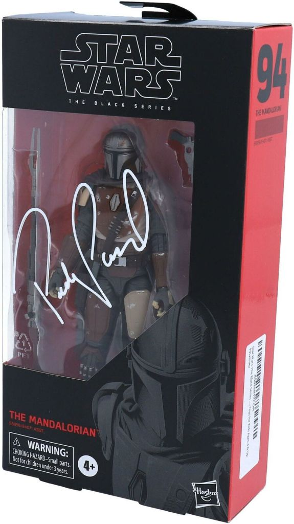 Pedro Pascal Autographed The Mandalorian Figure from Star Wars: The Black Series