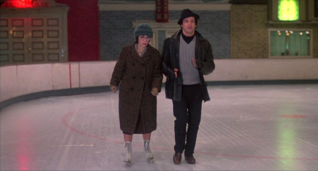 Rocky and Adrian in Ice Rink