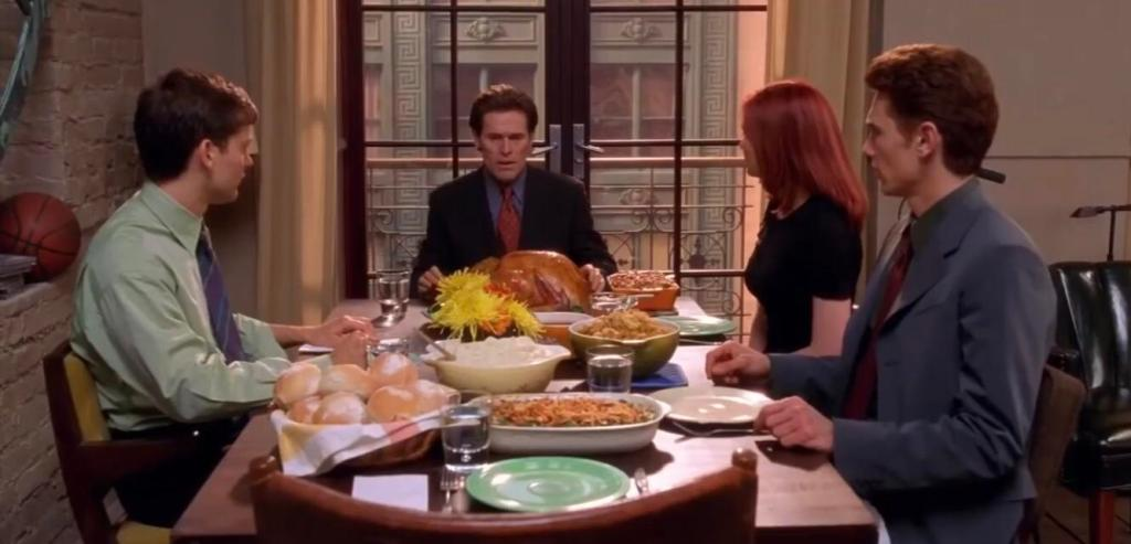 Tobey Maguire and Willem Dafoe in Spider-Man Thanksgiving