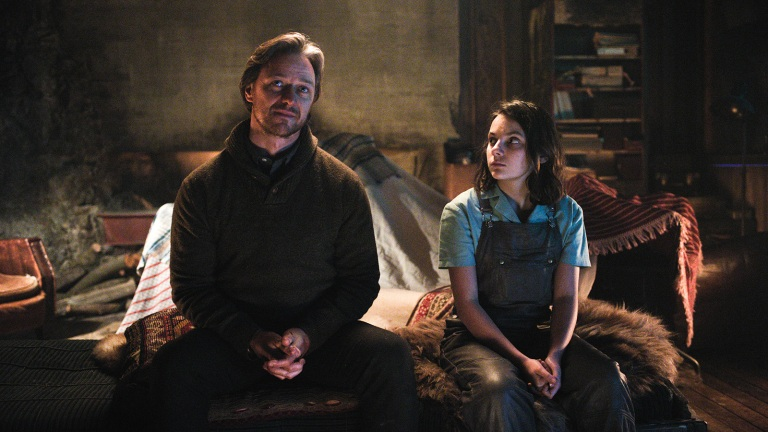 James McAvoy and Dafne Keen in His Dark Materials