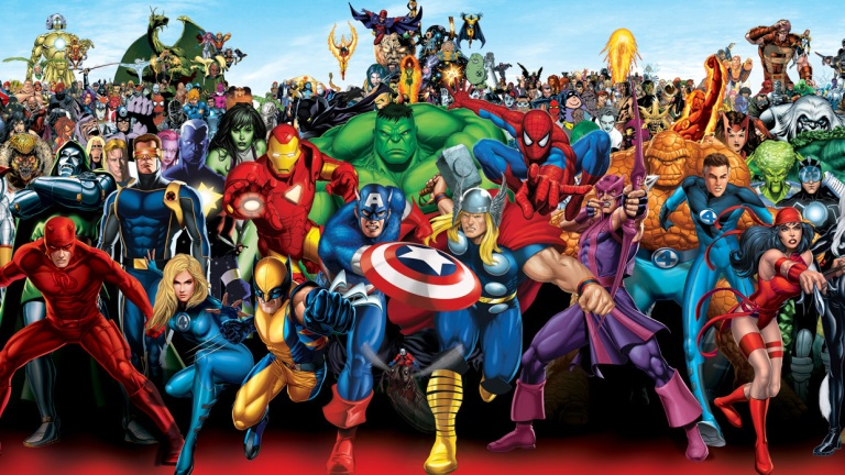 Marvel Superheroes Group Shot