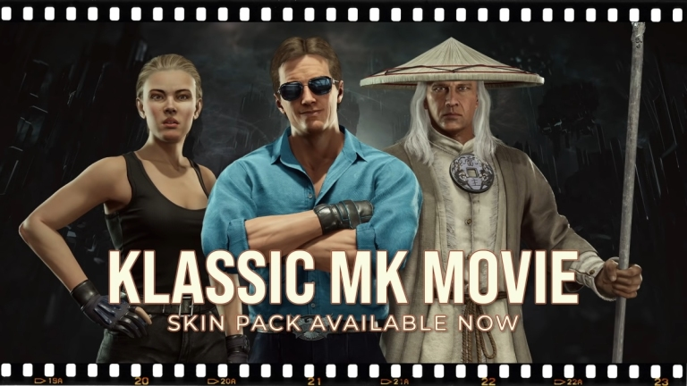 Movie versions of Sonya Blade, Johnny Cage, and Raiden