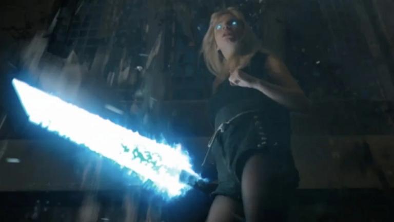 Anya Taylor-Joy as Magik with Lockheed in New Mutants