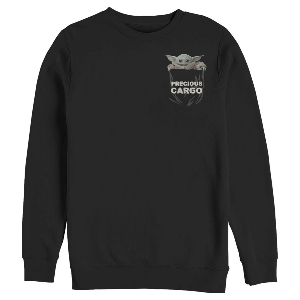 The Mandalorian Men's The Child Precious Cargo Pocket Sweatshirt