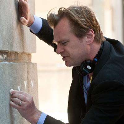 Christopher Nolan and Chalk in The Dark Knight Rises