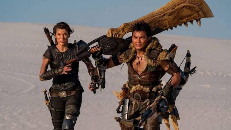 Milla Jovovich and Tony Jaa in Monster Hunter